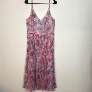 Oasis- Pink Floral Long Dress size 16/42